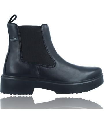 Calzados Vesga Botines Casual Chelsea de Piel GTX para Mujer de Legero 2-000101 color negro foto 1