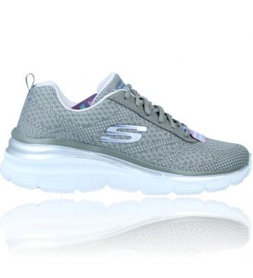 Calzados Vesga Zapatillas Deportivas Sneakers Casual para Mujeres de Skechers Fashion Fit 12719 color gris foto 1