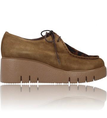 Calzados Vesga Zapatos Casual con Cordones Wallabee para Mujeres de Wonders E-6231 Mood color arena foto 1