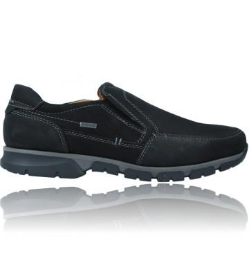 Calzados Vesga Zapatos Casual de Piel Slip-On GTX para Hombres de Fretz Shoes 6171 Meran color negro foto 1