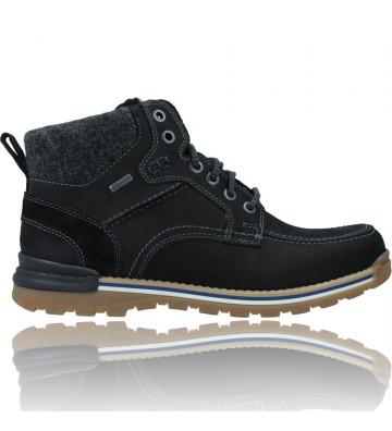 Calzados Vesga Botas Casual de Piel GTX con Cordones para Hombres de Fretz 1339 Cooper color negro foto 1
