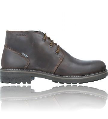 Calzados Vesga Botines Casual de Piel GTX con Cordones para Hombres de Igi&Co 81227 color marrón foto 1