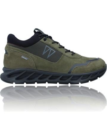 Calzados Vesga Zapatillas Deportivas Casual de Piel con GTX para Hombre de Igi&Co 81384 color verde foto 1