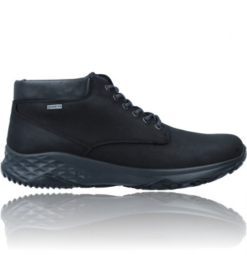 Calzados Vesga Botines Casual de Piel GTX con Cordones para Hombres de Igi&Co 81197 color negro foto 1