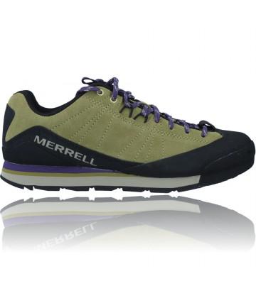 Calzados Vesga Zapatillas Deportivas de Piel para Hombres de Merrell Catalyst Suede J003491 color verde foto 1