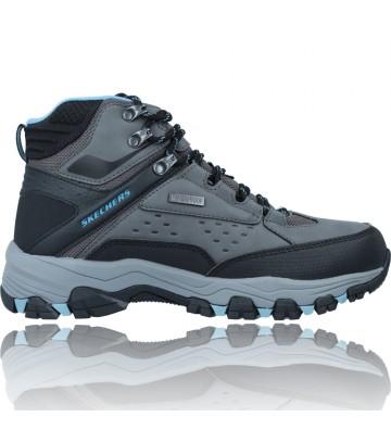 Calzados Vesga Botas Trekking Senderismo Waterproof para Mujeres de Skechers 158257 Selmen color negro y gris foto 1