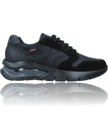 Calzados Vesga Zapatos Deportivos de Piel con Cordones para Hombre de Callaghan Adaptaction 45405 Vento color negro foto 1