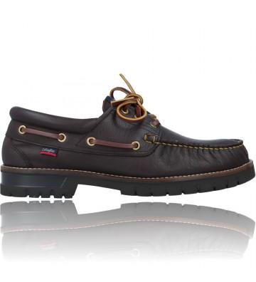 Calzados Vesga Zapatos Náuticos Casual de Piel para Hombres de Callaghan 12500 Freeport color marrón foto 1