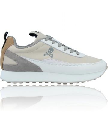 Calzados Vesga Zapatillas Deportivas Sneakers Casual de Piel para Mujeres de Scalpers 30013 Gina color Beige foto 1