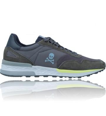 Calzados Vesga Zapatillas Deportivas Casual Sneakers para Hombres de Scalpers 29763 Harry color Gris y Verde foto 1