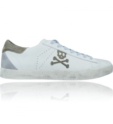 Calzados Vesga Zapatillas Deportivas Casual Bambas Sneakers de Piel para Hombres de Scalpers 29769 Henry color Blanco foto 1