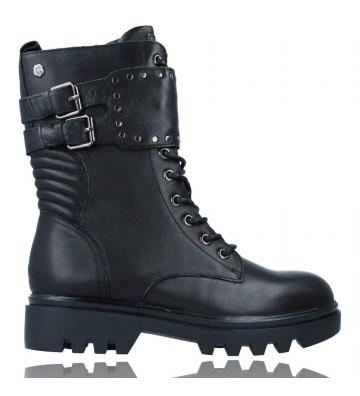 Calzados Vesga Botas Casual Militar Bikers de Piel con Cordones para Mujeres de Carmela 67947 color negro foto 1