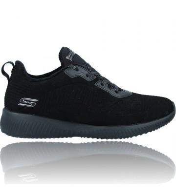 Calzados Vesga Zapatillas Deportivas Sneakers para Mujeres de Skechers Bobs Squad 32505 color negro foto 1