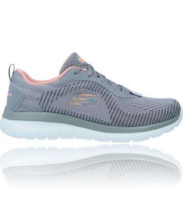 Calzados Vesga Zapatillas Deportivas Casual Sneakers para Mujer de Skechers Bountiful 149220 color gris foto 1