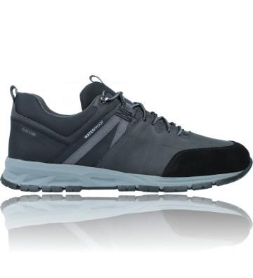 Calzados Vesga Zapatillas Deportivas Casual de Piel Waterproof para Hombres de Geox Delray U16CQA color negro foto 1