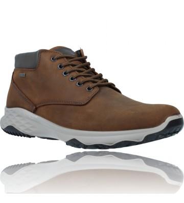 Calzados Vesga Botines Casual de Piel GTX con Cordones para Hombres de Igi&Co 81197 color marrón foto 2
