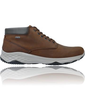 Calzados Vesga Botines Casual de Piel GTX con Cordones para Hombres de Igi&Co 81197 color marrón foto 1
