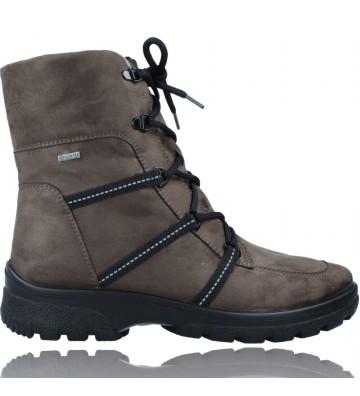 Calzados Vesga Botines Casual con Cordones y Gore-Tex GTX para Mujeres de Ara Shoes SAAS 12-49311 color taupe foto 1