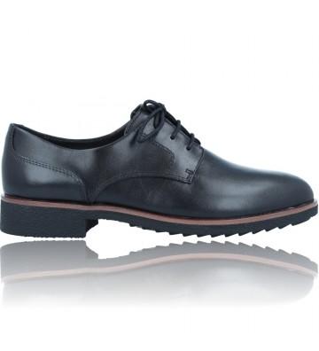 Calzados Vesga Zapatos Casual Oxford de Piel con Cordones para Mujeres de Clarks Griffin Lane color negro foto 1