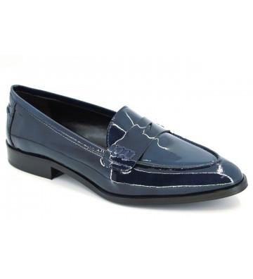 Luis Gonzalo 3809m Moccasin Shoes Women  Mask Blue