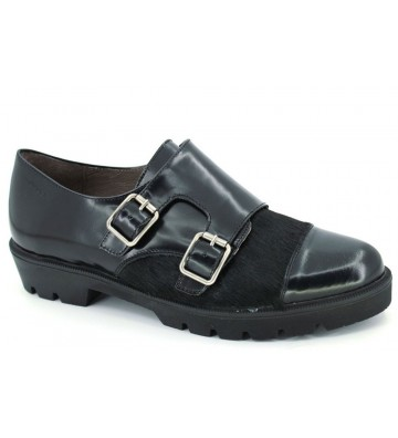 Wonders A-3404 Women Urban shoes 2 Buckles Black