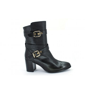 Lodi 18459 Women Black Dress Buckle Booties