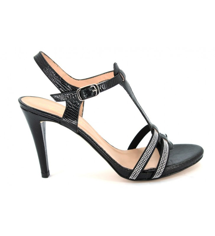Pepe castell 20010 women diana black dress sandals
