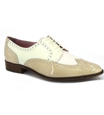 Andrea Chenier 5547 Zapatos Oxford Mujer Arena