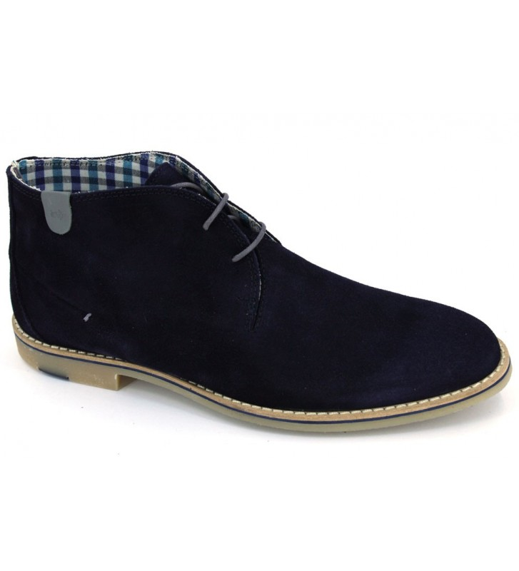 Soler and Pastor 811 Men Navy Casual Booties