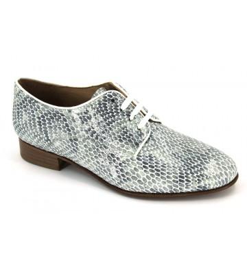Amberone 5716 Zapatos Cordon Casual Mujer Grises