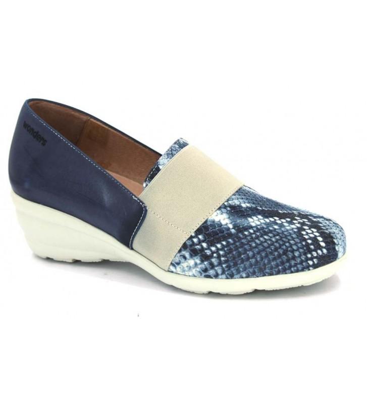 Wonders E-4211 Blue Shoes