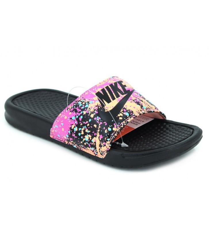 Nike Wmns Benassi Jdi Print 618919 Sandalias Chanclas de Mujer