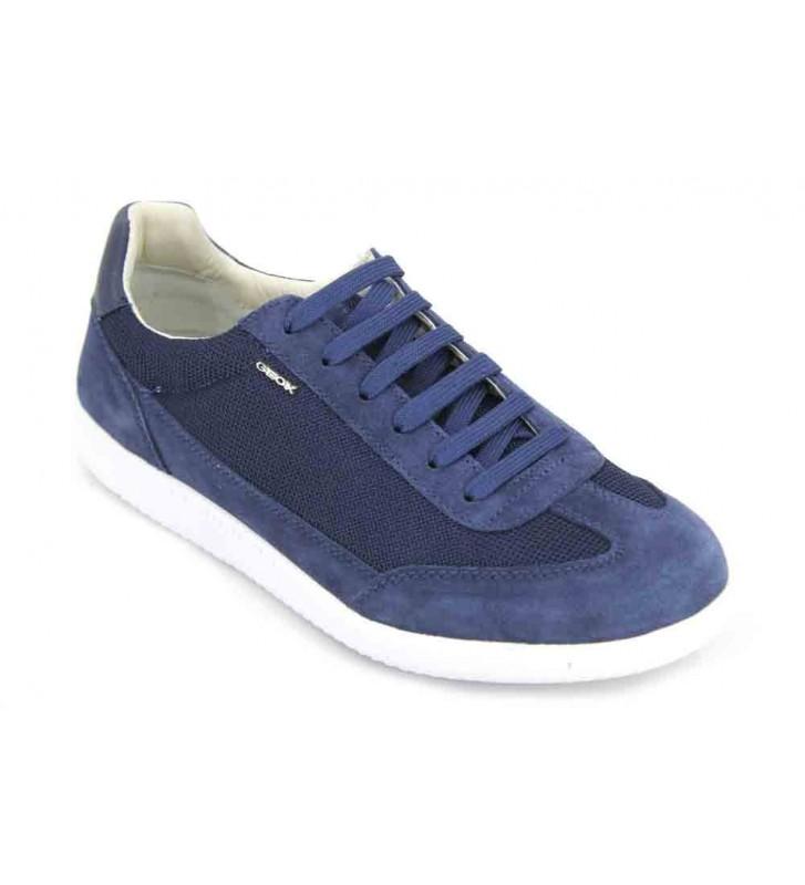 Geox U Keilan B, Zapatillas para Hombre, Azul (Blue), 45 EU