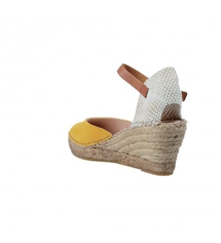 Fabiolas 304700 Sandalias de Esparto con Cuña de Mujer