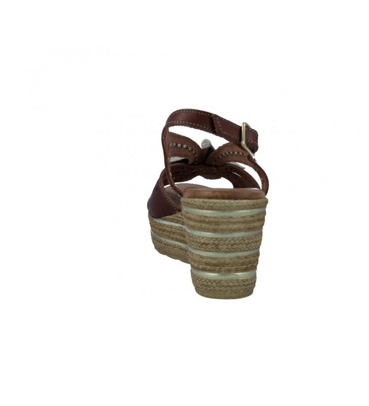 Calzados Vesga 3524 Sandalias con Cuña de Mujer