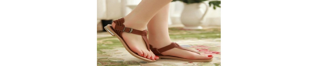 Flache Sandalen für Damen